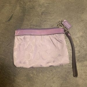 Purple Coach Coin Purse